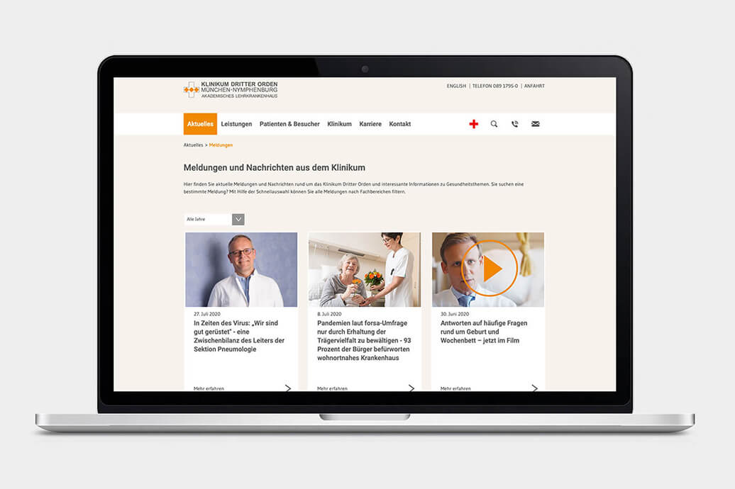 Klinik-Website Relaunch